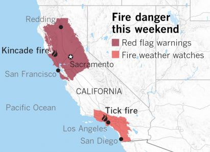 the tick fire map