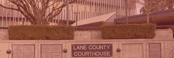 This photo is of the exterior of the Lane County Circuit Courthouse.