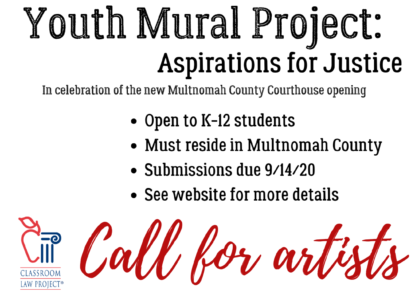 Youth Mural Project call for artists - due 9/14/20