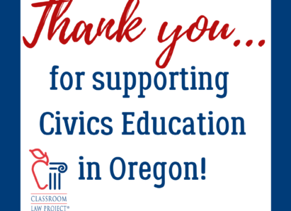 Thank you for supporting civics education in Oregon!